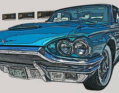 1965 Ford Thunderbird Print by Samuel Sheats