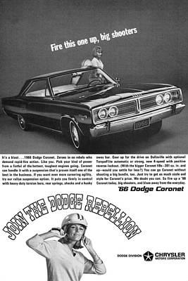 Advertisement Digital Art - 1966 Dodge Coronet by Digital Repro Depot