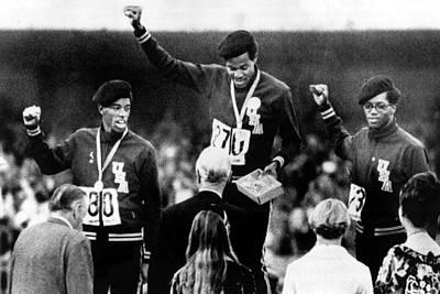 1968 Olympics, 400 Meter Run Winners Print by Everett