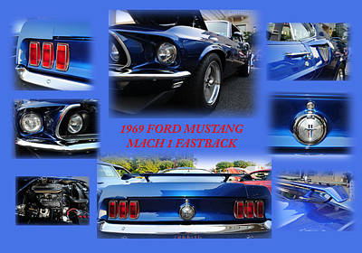 Cobra Photograph - 1969 Ford Mustang Mach 1 Fastback by Paul Ward