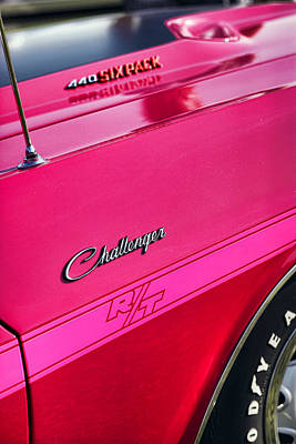 1970 Dodge Challenger Rt 440 Six Pack - Tickled Pink Print by Gordon Dean II