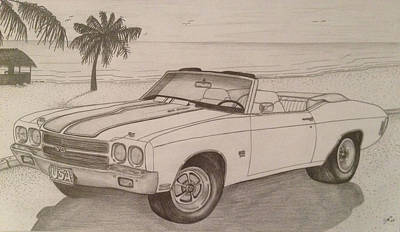 1970 Ss Chevelle Ls6 Print by Peter Griffen