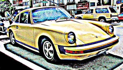 1970s Era Porsche 911 Print by Samuel Sheats