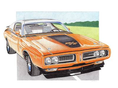 1971 Dodge Charger Rt Print by James Robert