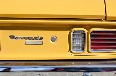 1971 Plymouth Barracuda Convertible 318 Ci Taillight Emblem Print by Jill Reger