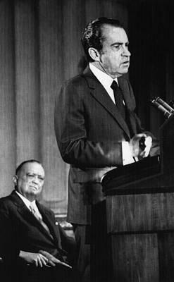 1971 Us Presidency.  Fbi Director J Print by Everett