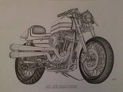 1973 Harley-davidson Xrtt Print by Peter Griffen