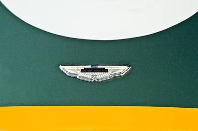 1993 Aston Martin Dbr2 Recreation Hood Emblem Print by Jill Reger