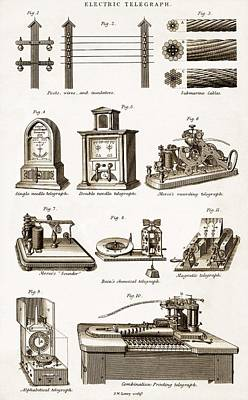 Technical Photograph - 19th Century Electric Telegraph Equipment by Sheila Terry