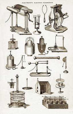Technical Photograph - 19th Century Electro-magnetic Equipment by Sheila Terry