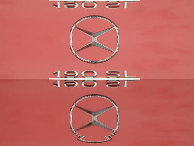 Old Mercede-benz Logos Print by Odon Czintos