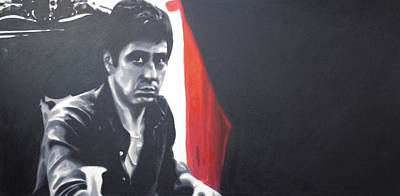 Cocaine Painting - - Scarface - by Luis Ludzska