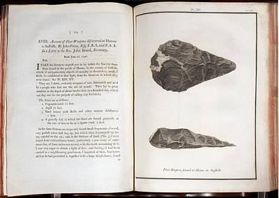 1797 First Handaxe John Frere Of Hoxne 1 Print by Paul D Stewart