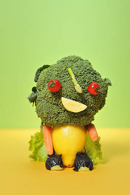 Y120907 Photograph - A Vegetable Doll by Yagi Studio