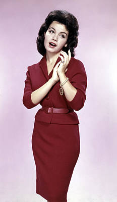 Three Quarter Sleeves Print featuring the photograph Annette Funicello, 1961 by Everett