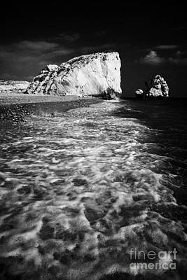 Aphrodites Rock Petra Tou Romiou Republic Of Cyprus Europe Print by Joe Fox