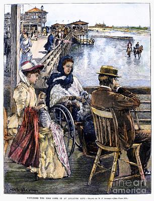 Equestrian Fashion Photograph - Atlantic City, 1890 by Granger