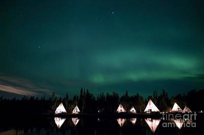 Yellowknife Photograph - Aurora Above Aurora Village, Aurora by Yuichi Takasaka