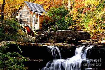Grist Mill Photograph - Babcock State Park by Thomas R Fletcher
