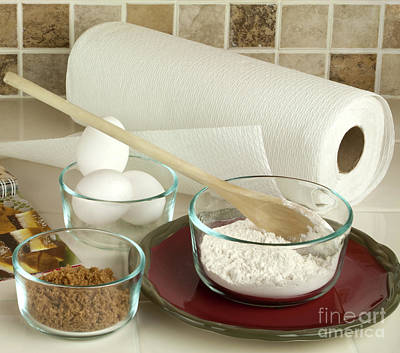Cookbook Photograph - Baking Ingredients by Blink Images