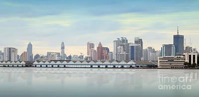 Bangkok City Town And The Water Park Original by Anek Suwannaphoom