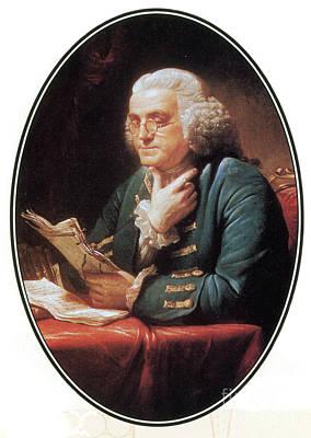 Benjamin Franklin, American Polymath Print by Photo Researchers