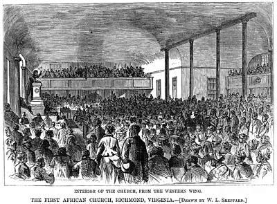 Sermon Photograph - Black Church, 1874 by Granger