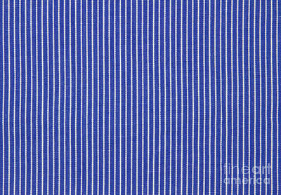 Colored Background Photograph - Blue And White Stripes by Blink Images