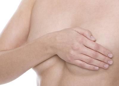 Self-examination Photograph - Breast Self-examination by