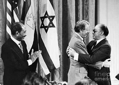 Applaud Photograph - Camp David Summit, 1978 by Granger
