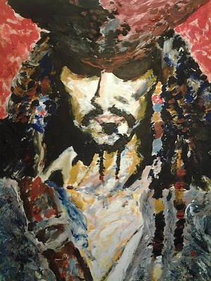 Jack Sparrow Painting - Captain Jack Sparrow Grimm by Nzephany Madrigal Uzoka