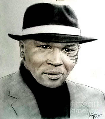Tattoo Pastel - Champion Boxer And Actor Mike Tyson by Jim Fitzpatrick