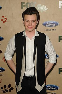 Chris Colfer At Arrivals For Fox Fall Print by Everett
