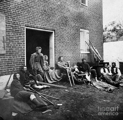 Civil War: Wounded, 1864 Print by Granger