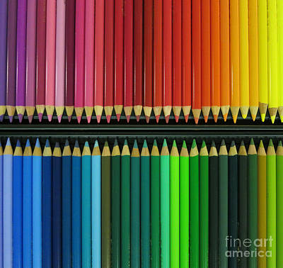 Colored Pencil Abstract Photograph - Color Me Brilliant by Patricia Januszkiewicz