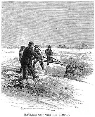 Cutting Ice, C1870 Print by Granger