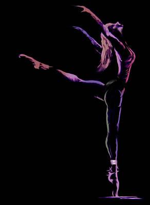 Ballet Painting - Dancer by Jose Luis Reyes