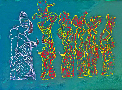 Beloved Saviour Painting - Dinka Wise Virgins by Gloria Ssali