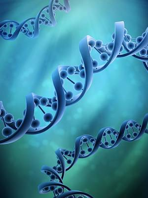 Dna Molecules, Artwork Print by Andrzej Wojcicki