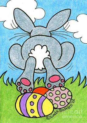 Easter Bunny Retreat Print by Linda Battles