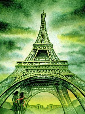 Eiffel Tower Paris France Print by Irina Sztukowski