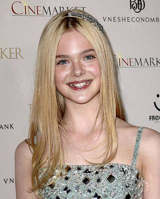 Elle Fanning At Arrivals For The Print by Everett