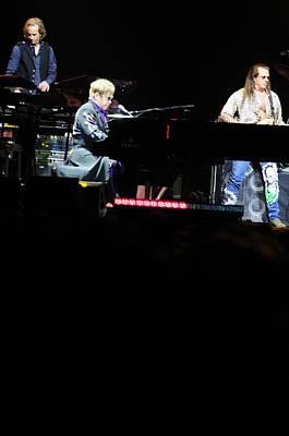 Elton John Print by Jenny Potter