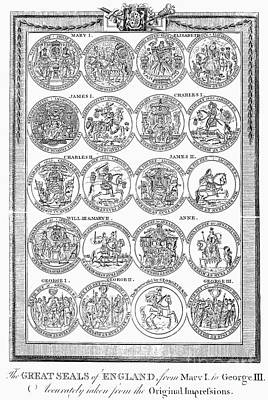 England: Royal Seals Print by Granger