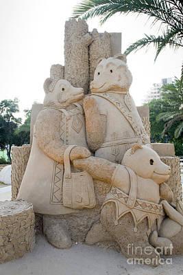 Goldilocks Photograph - Fairytale Sand Sculpture  by Sv