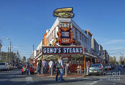 Famous Geno's Steaks Print by John Greim