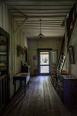 Farmhouse Entry Hall And Stairs Print by Lynn Palmer