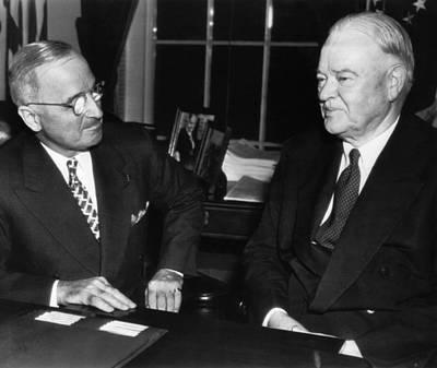 Former President Herbert Hoover Right Print by Everett
