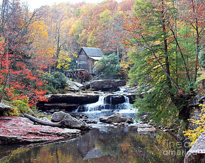 Grist Mill Photograph - Glade Creek Grist Mill by Jack Schultz