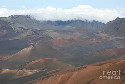Crater Digital Art - Haleakala Volcano Maui Hawaii by Sharon Mau